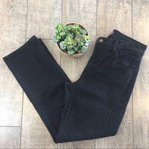 NYDJ Straight Black Jeans Lift & Tuck Tech Size 6P